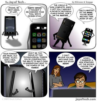 """Illustration for article titled Analyst Claims iPhone Users Are Suffering From """"Stockholm Syndrome"""""""