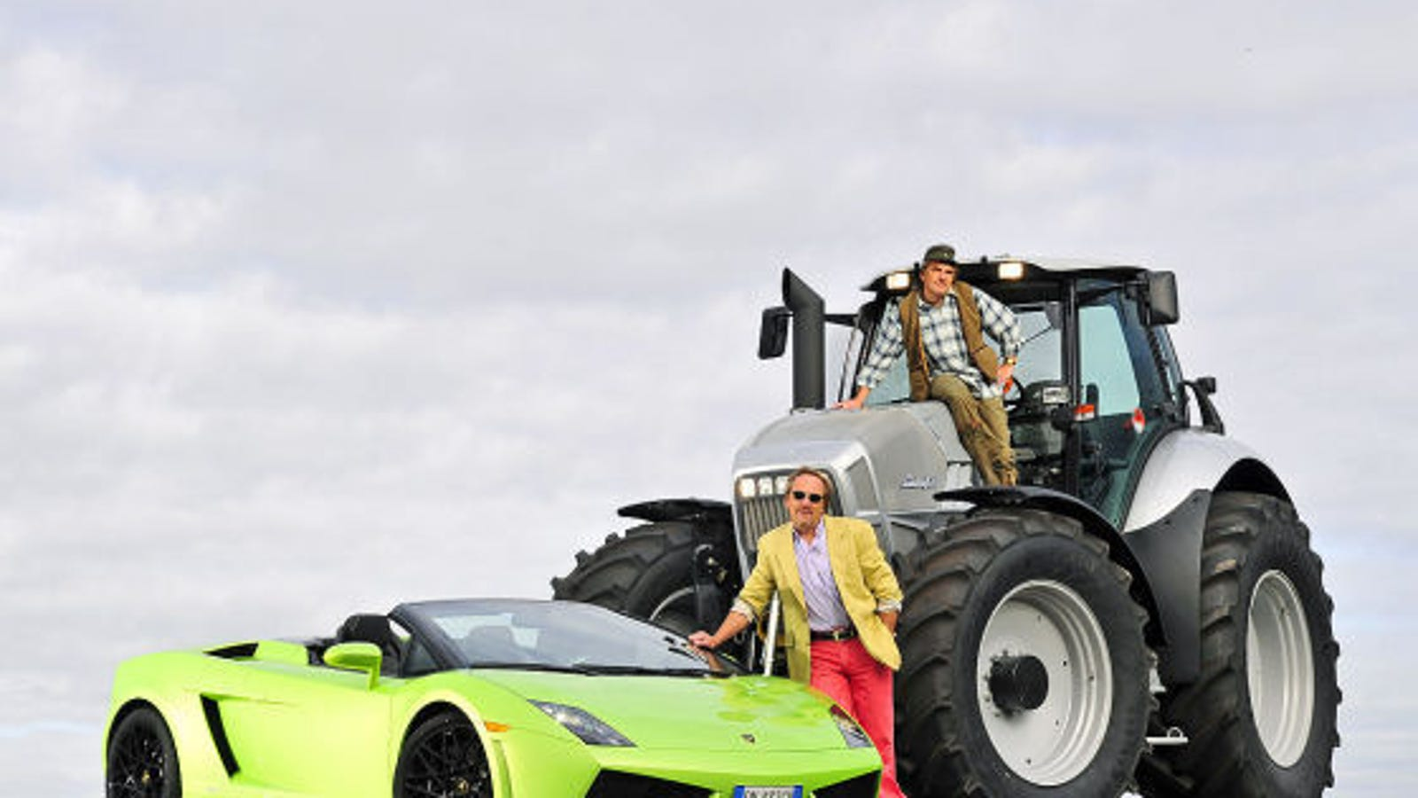 The Big Lamborghini Face Off Roadster Vs Tractor