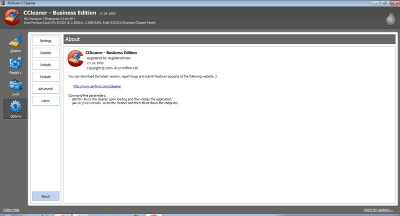 CCleaner 3 24 1850 Business Edition patch rar