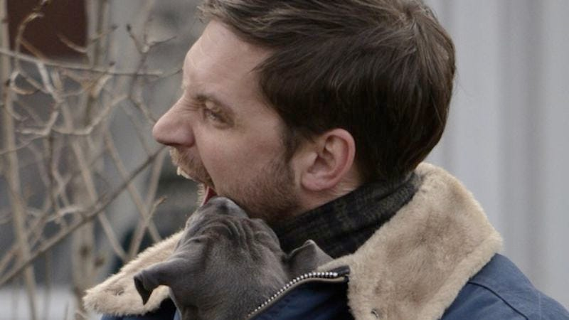 Illustration for article titled Tom Hardy forced to eat puppies to maintain physique