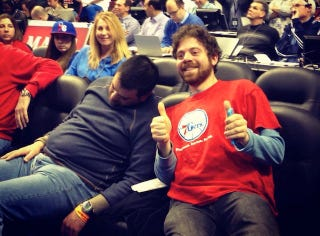 Illustration for article titled Sixers Fan Discovers The Best Way To Enjoy Sixers Games