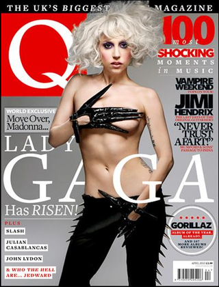 Illustration for article titled Lady Gaga Wears Strap-On For Q Magazine Cover