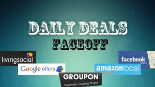 Illustration for article titled Daily Deals Faceoff: Groupon vs. Living Social vs. Google vs. Amazon vs. Facebook