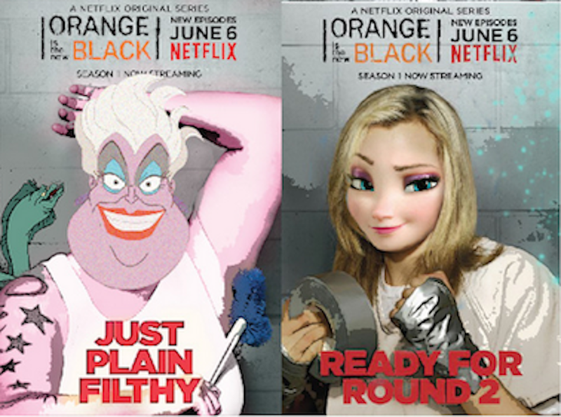 Illustration for article titled Here Are Your Disney Princesses as OITNB Characters