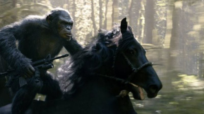 Illustration for article titled Weekend Box Office: And an ape rode on horseback to save them