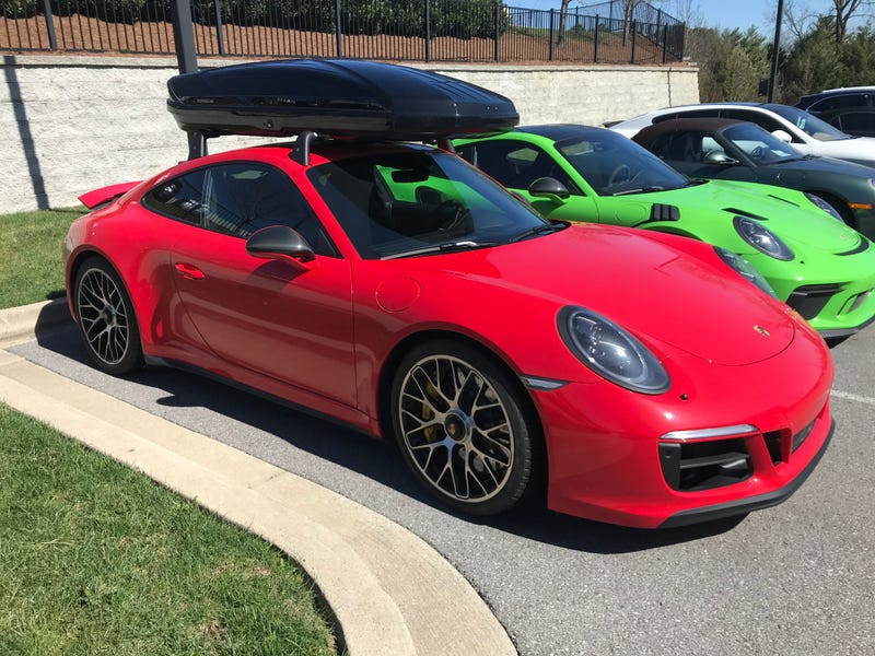 Illustration for article titled Productive Car Spotting at Porsche of Nashville today.