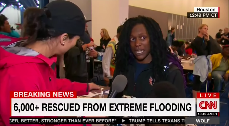 Houston woman handles CNN Reporter like a Champ