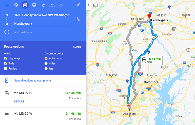 How to Avoid Tolls and Highways on Google Maps, Apple Maps ...