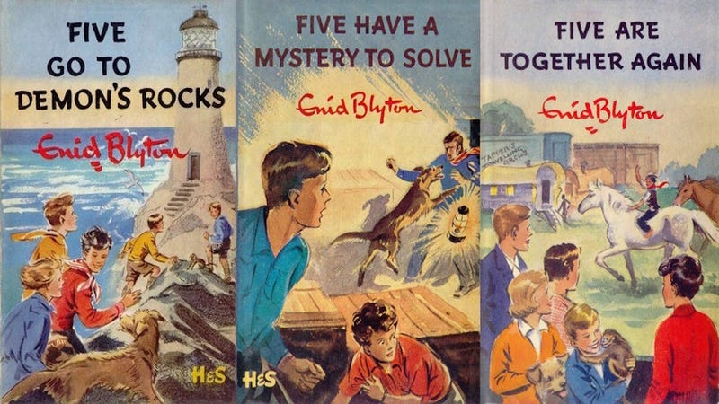 Illustration for article titled The Identities of The Children On the 'Famous Five' Covers Have Finally Been Revealed