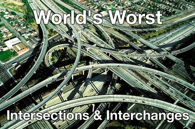 Illustration for article titled The World's 18 Worst Intersections And Interchanges