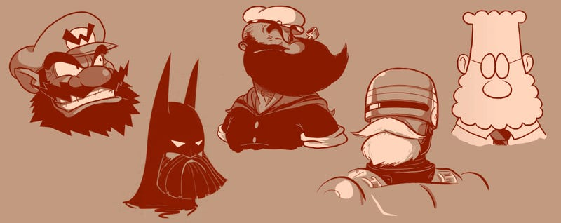 Illustration for article titled Famous characters look more badass with cool beards on them