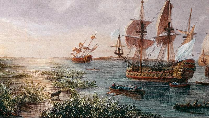Illustration for article titled 5 Explorers Who Saw The Americas Before Columbus But Turned Back Because Of A Dog Barking Along The Shore