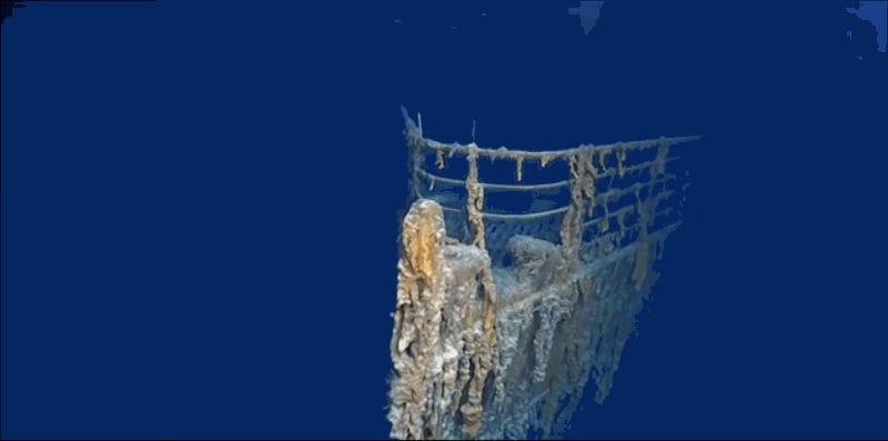 Imágenes nunca vistas del Titanic revelan cómo los microbios están consumiendo el barco
