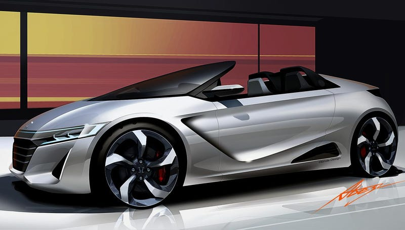 Illustration for article titled The Honda S660 Concept Is A Sporting Return To Form For Honda