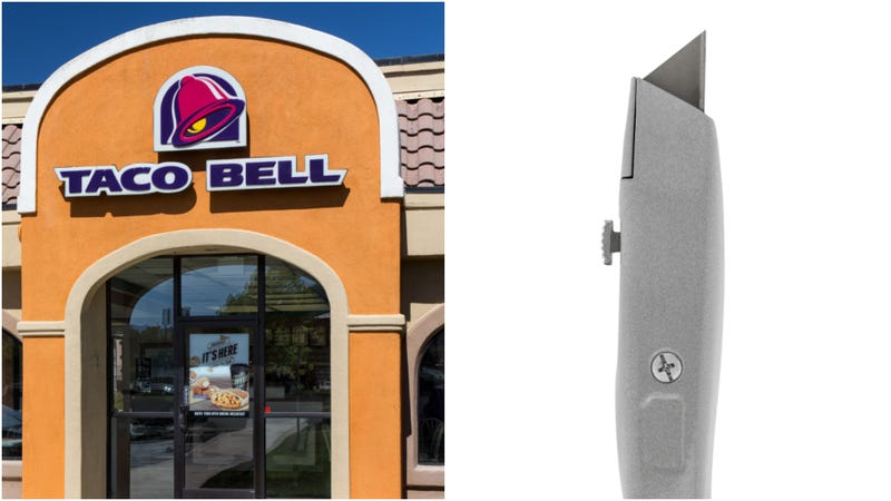 Illustration for article titled Taco Bell Fiesta Salad comes with side of box cutter