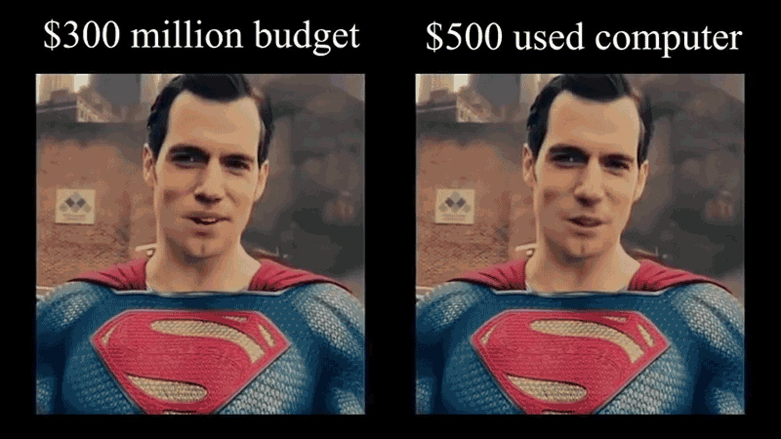 A $500 PC and an AI Did a Way Better Job Erasing Henry Cavill's Justice League Mustache Than Expensive VFX