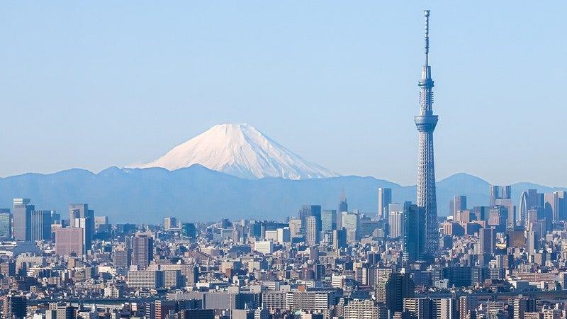 The Tokyo skyline.