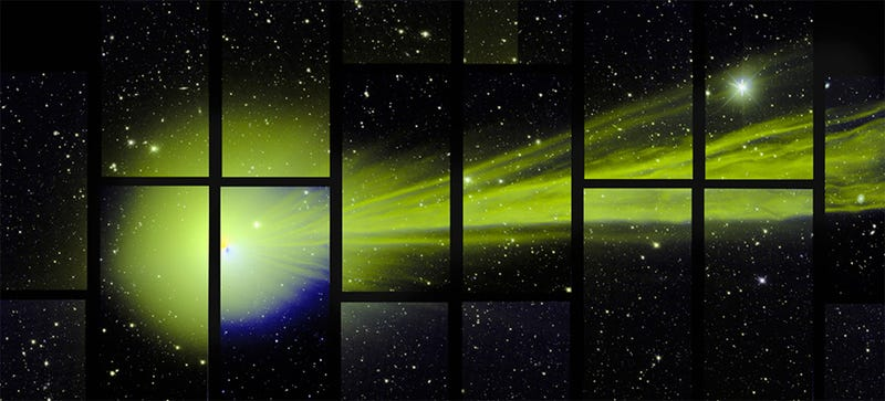 Illustration for article titled This Accidental Picture of Comet Lovejoy Is Also the Best