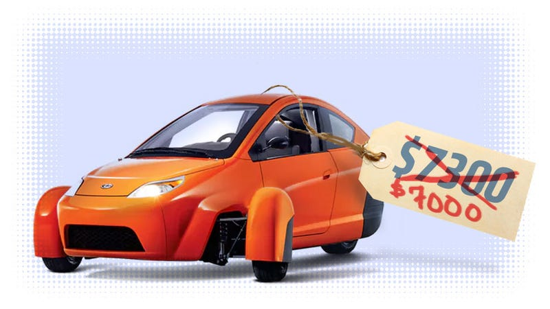 Illustration for article titled The Elio Will Cost $7000 But Now You Have To Buy One If You Reserve It