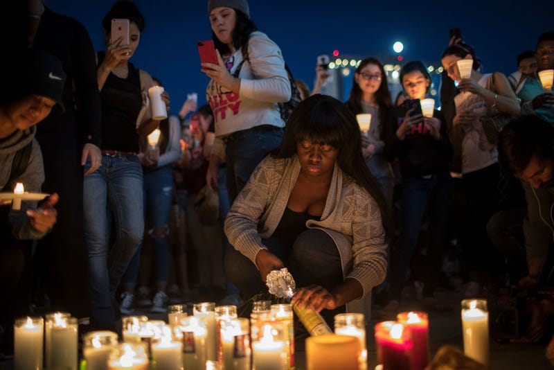 Vigil held for victims of Las Vegas shooting on October 1 (Photo: Drew Angerer/Getty Images)