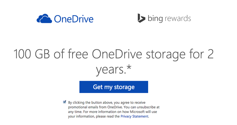 Illustration for article titled Microsoft Will Give You 100GB of Free OneDrive Storage for Two Years