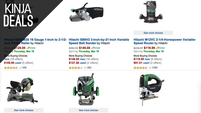 Illustration for article titled Save $25 on Your $100 Hitachi Power Tool Order