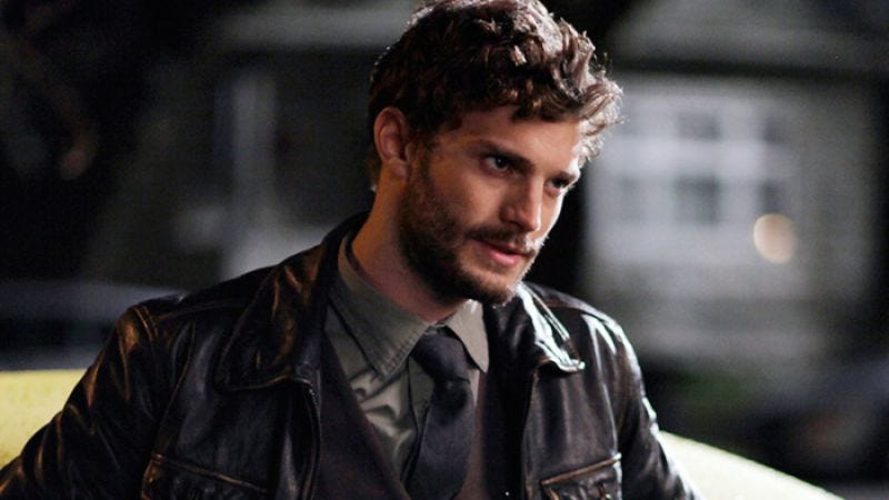 """Illustration for article titled Fifty Shades Of Grey star visits """"sex dungeon,"""" says it was icky"""