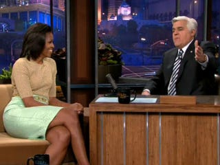 Michelle Obama and Jay Leno (Jezebel)