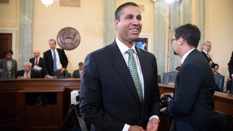 FCC Chair Ajit Pai at a Senate Committee on Commerce, Science, and Transportation meeting in August 2018.