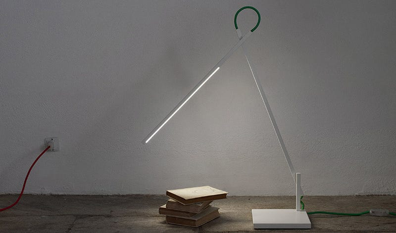 Illustration for article titled This Lamp Is a Line of Light That You Can Twist to Your Heart's Content