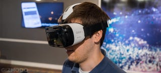 Illustration for article titled Gear VR: Samsung's Answer to the Oculus Rift Is a Phone-Powered VR Beast