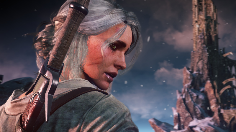 Ciri, as she appears in The Witcher 3.