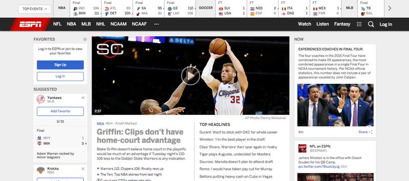 Illustration for article titled Whoa, New ESPN.com