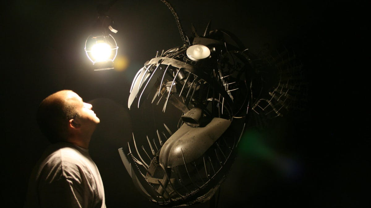 This huge anglerfish sculpture is wicked nightmare fuel for Anglerfish Light  166kxo