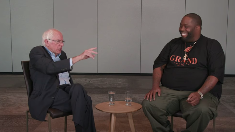 Illustration for article titled Watch Killer Mike chat with Bernie Sanders about health care and economic disparity