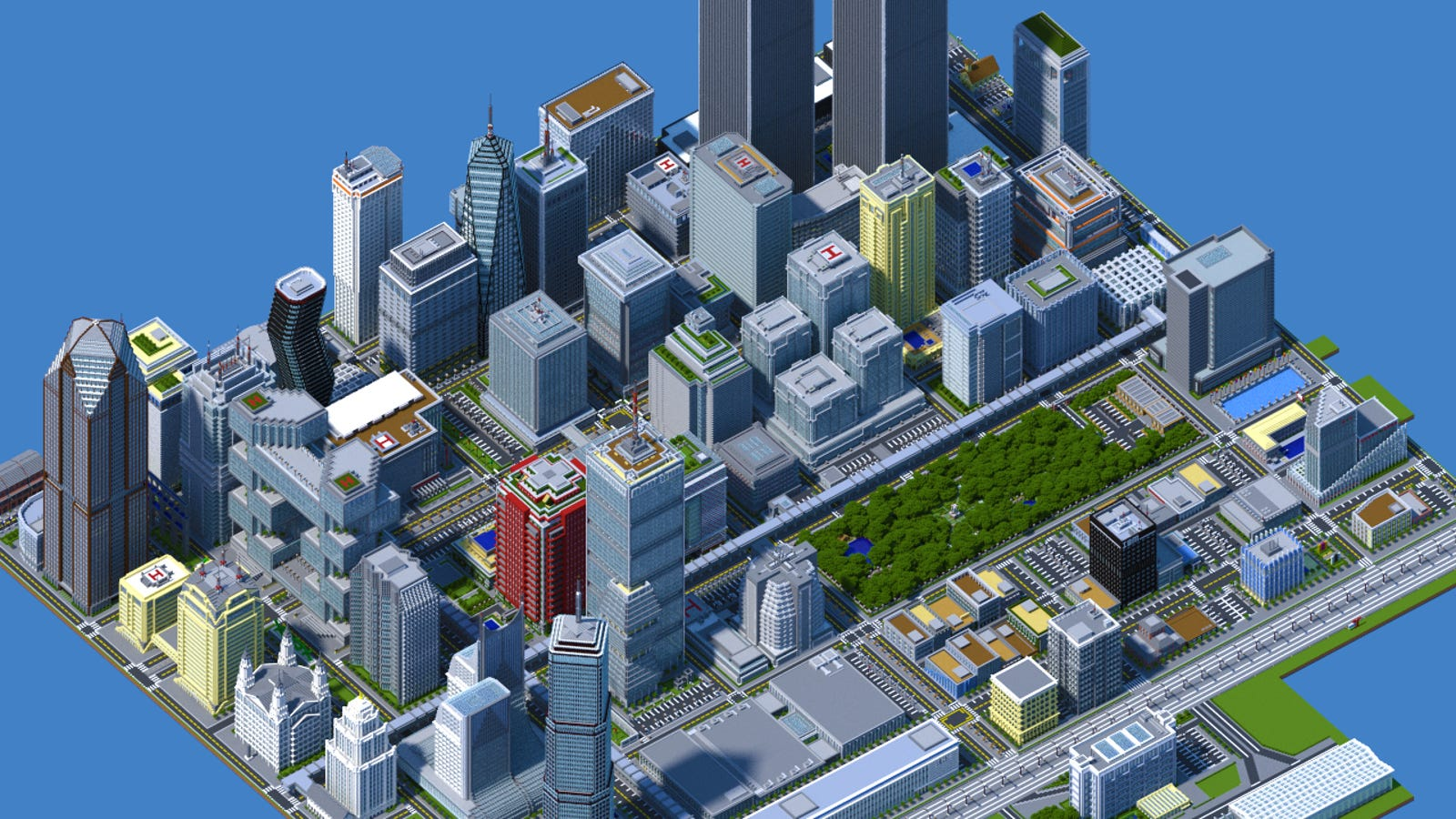 Esta inmensa ciudad en Minecraft tiene 4,5 millones de bloques