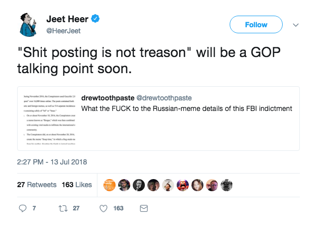 No, 'Shit-Post' Does Not Appear in Mueller's New Russia