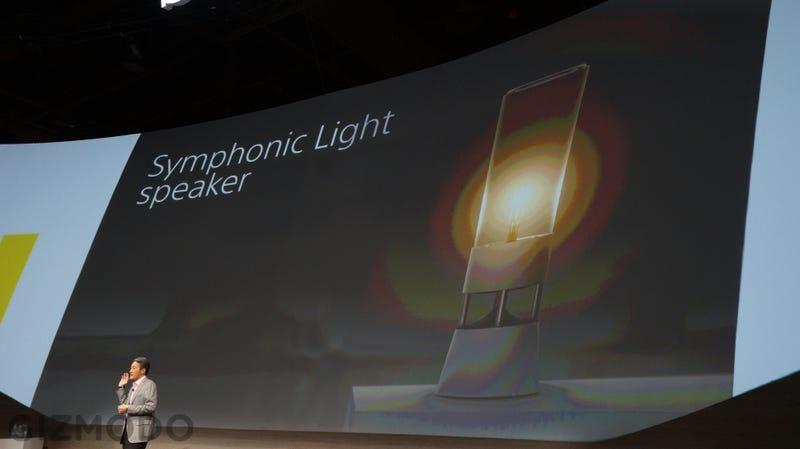El nuevo altavoz de Sony reproduce sonido a través de cristal