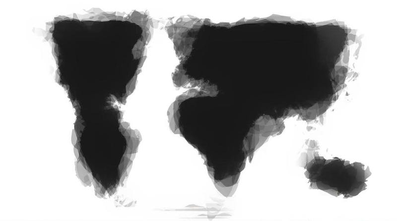 What happens when people draw a map of the world from memory