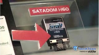 Illustration for article titled InnoDisk's 128 GB NanoSSD Is the Size of a Matchbox, but Still Zips Around