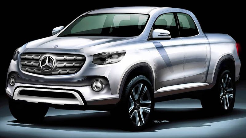 Illustration for article titled Mercedes Is Building A Mid-Sized Luxury Pickup, World Has Gone Mad
