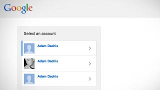 Illustration for article titled Google's Updated Sign-In Page Makes Using Multiple Accounts A Lot Easier
