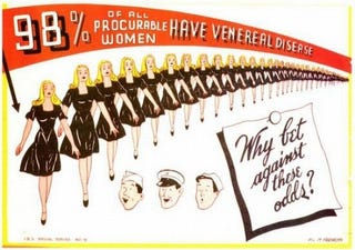 Illustration for article titled Vintage Propaganda Posters Warn Against STD-Riddled Women