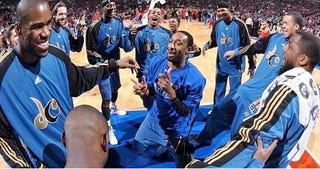 """Illustration for article titled Gilbert Arenas To J.J. Redick: """"We're The Two Best White Shooters In The NBA"""""""