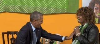 Illustration for article titled YouTube Star Sensation GloZell Interviews President Obama