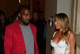 Kanye West and Kim KardashianEthan Miller/Getty Images
