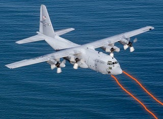 Illustration for article titled US Air Force Successfully Tests Advanced Tactical Laser From a C-130 Plane