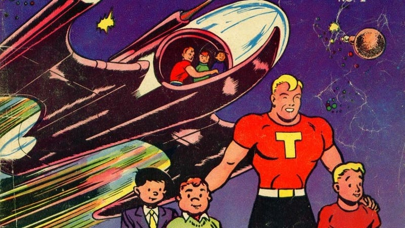 Illustration for article titled 10 Strangest Advertising Superheroes of the 1940s