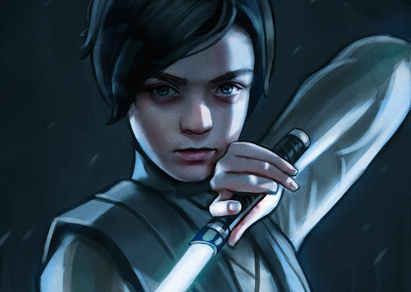Illustration for article titled Arya Stark Becomes a Jedi in This Awesome Game of Thrones-Star Wars Mash-Up Art