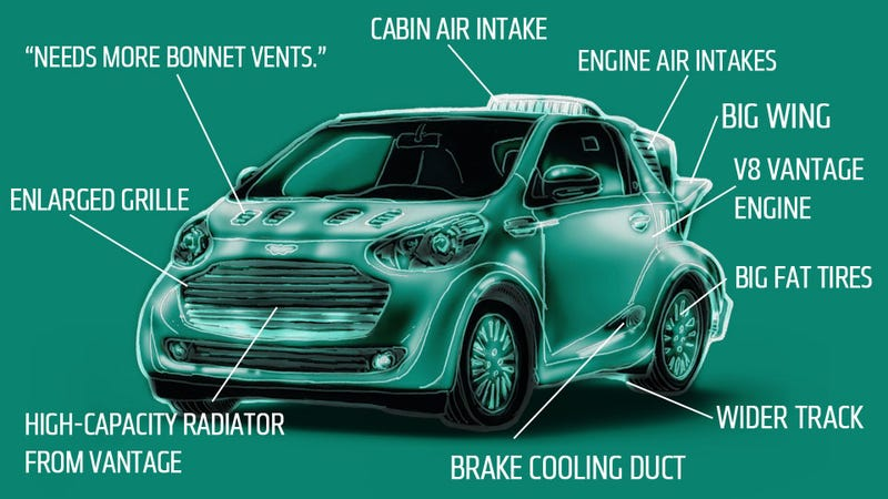 Illustration for article titled Aston Martin Confirms V8 Cygnet With Their Denial